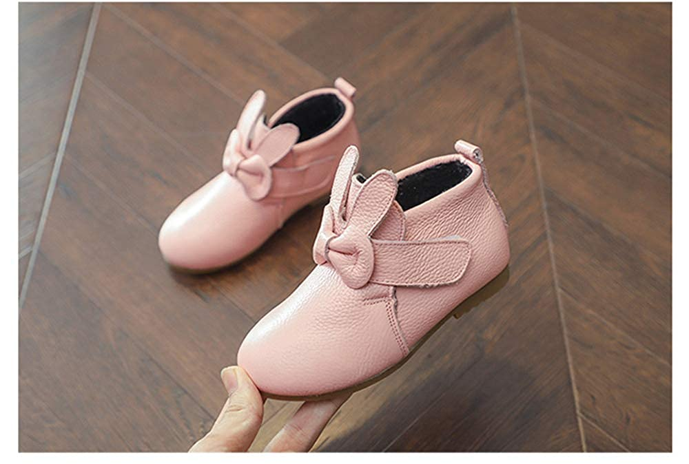 Fancyww Girls Plus Velvet Ankle Boots high-top Shoes