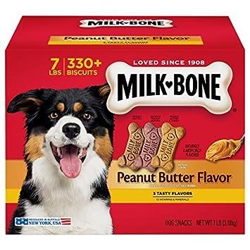 Milk-Bone Peanut Butter Flavor Dog Treats Variety Pack, Small Medium 7 lb