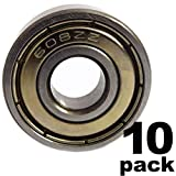 PGN - 608-ZZ Double Shielded Ball Bearing - 8x22x7 - Lubricated - Chrome Steel (10 PCS)