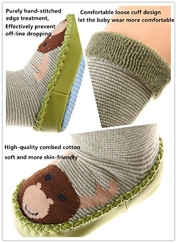 Baby Boy Girl Animal Moccasins Non-Skid Indoor Slipper Winter Warm Shoes Socks