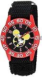 Disney Boy's 'Mickey Mouse' Quartz Plastic and Nylon Casual Watch, Color:Black (Model: WDS000111)