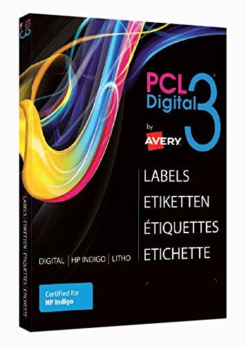 Avery PCL3-MCG Etichette SRA3 Carta Patinata Rifinita a Macchina, 100 ff, 320 x 450 mm, Lucido