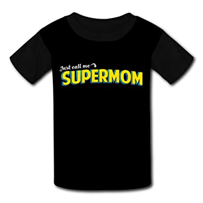 iqwekfrec Kids Just Call Me Super Mom Various O-Neck T-Shirts for Boys Girls