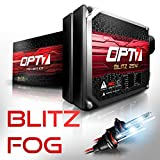 OPT7 Blitz Fog Light HID Kit 3x Brighter - 4x Longer Life - All Colors and Sizes Simple DIY Install - 2 Yr Warranty - Bulbs and Ballasts [H3 - 8K Ice Blue Xenon]