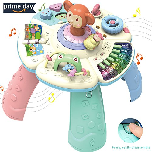HOMOFY Baby Toys Musical Learning Table 6 Months up-Early Education Music Play&Learn Activity Center Game Table Toddlers,Infant,Kids Toys for 1 2 3 Years Old Boys & Girls- Lighting & Sound (New Gifts) (Interactive Center Learning)