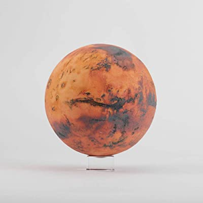 AstroReality Mars Pro | Mars Globe | Solar System Model, Martian Planet | 3D Printed, 4.72"