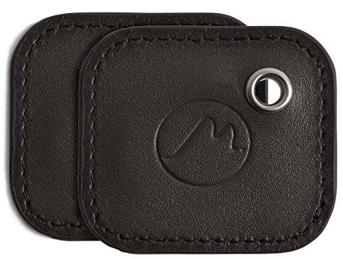 Tile Mate Case by Metier Life | Gen 2 Tile Phone and Item Finder Vegan Leather Key FOB Cover | Elegant Protection with Included Keyring (Coco 2 Pack)