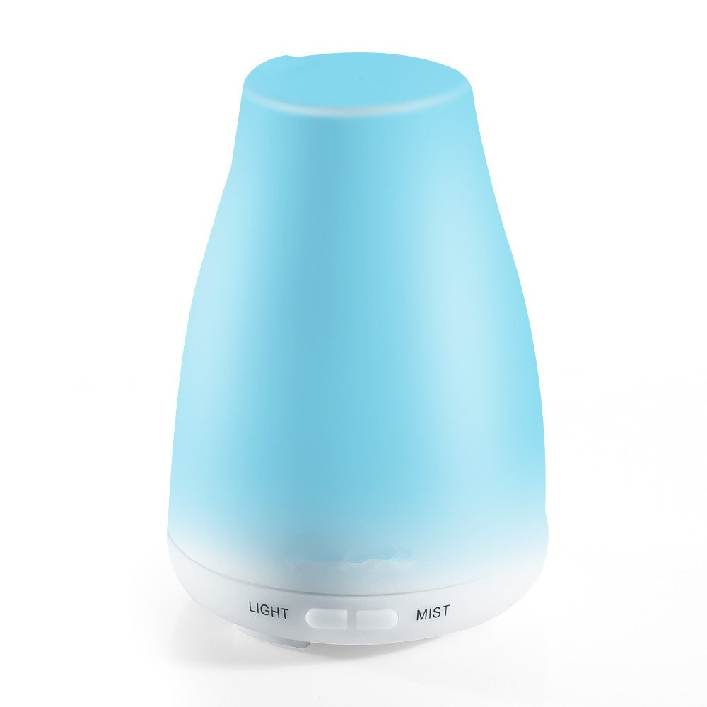 Aroma Diffuser Humidifier With Adjustable Mist Mode Waterless Auto Shut-off and 7 Color LED Lights Changing for Home Office Baby