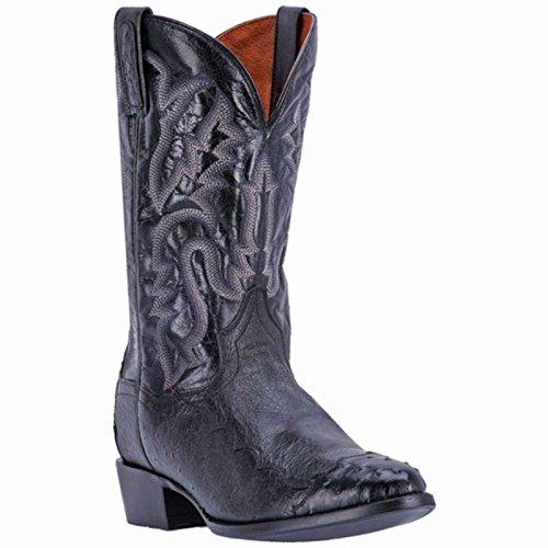 Dan Post Round Boots - Dan Post Men's Pugh Ostrich Western Boot Round Toe Black 8.5 D
