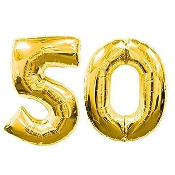 Ocballoons® - Globo de 50 años Mylar con número, de color ...