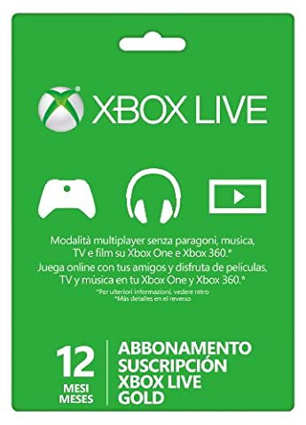 Xbox LIVE Gold 12-Month Membership Card (Europe)
