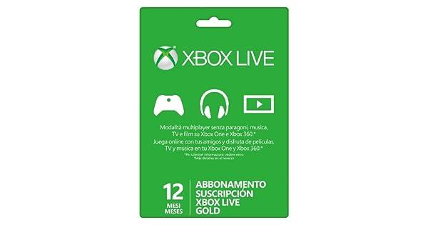 Microsoft Suscripción Xbox Live Gold de 12 Meses: Amazon.es ...