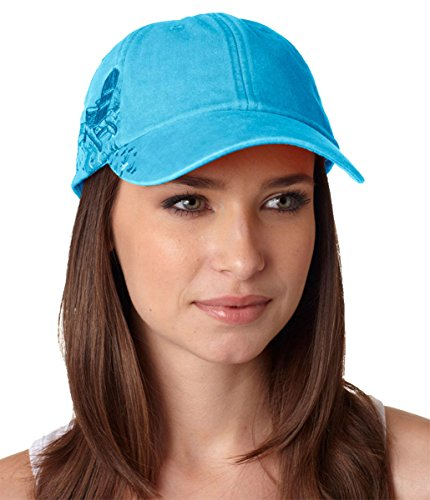 (Adams Resort Optimum Pigment Dyed Adirondack Chairs Twill Cap (Caribbean Blue) (ALL))
