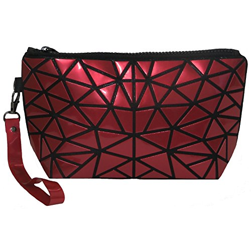 Women's Wristlet / Clutch / Cosmetic Bag in Vibrant Designer Inspired Print