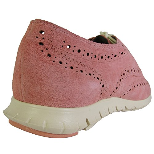 Cole Haan Women's Zerogrand Wing-Tip Oxford Coral Suede / Ivory factory outlet get authentic online discount shop low shipping for sale cheap wide range of RKrppLPW46