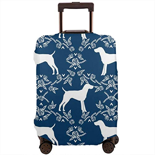 Dachshund Dog Floral Zipper Travel Luggage Suitcase Protector Baggage Protector Anti-theft Luggage Case Waterproof Protective Cover Fits 18-28 Inch Suitcase]()