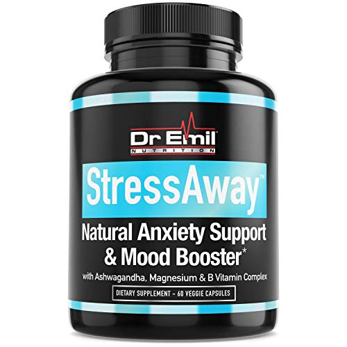 Dr. Emil - Natural Anxiety Relief Supplement – Doctor-Formulated to Support Stress Relief, Serotonin Production & Mood Boost (60 Veggie Capsules)