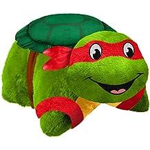Pillow Pets Nickelodeon Teenage Mutant Ninja Turtles Raphael Plush Toy Plush, Green/Red, One Size