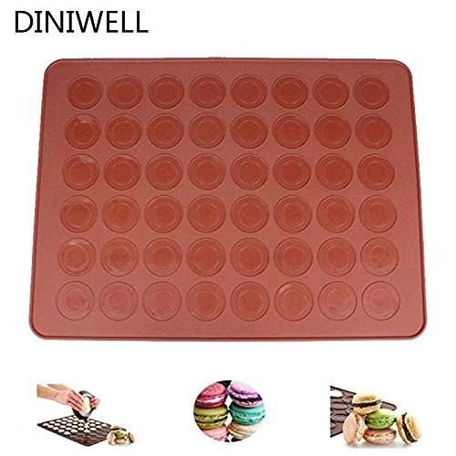 Saasiiyo Silicone 48-cavity Macaron Macaroon Pastry Cake Nonstick Baking Sheet Mat Large cookie Dessert Special Baking Mould