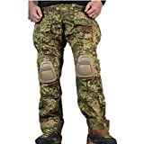 emerson acu - H World Shopping EMERSON Tactical Airsoft Paintball Army Military Shooting BDU Men Gen3 G3 Combat Pants Trousers with Knee Pads (GZ, S)