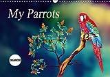My Parrots 2018: Coloured Pencil Drawings (Calvendo Art)