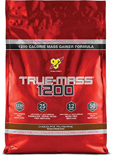 BSN TRUE-MASS Weight Gainer, Muscle Mass Gainer Protein Powder, Chocolate Milkshake, 10.38 Pound (Muscle Building Milkshake)