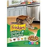 Purina Friskies Indoor Delights Chicken, Beef, Salmon, Cheese, Garden Greens Flavors Adult Dry Cat Food - (12) 16.2 Oz. Boxes