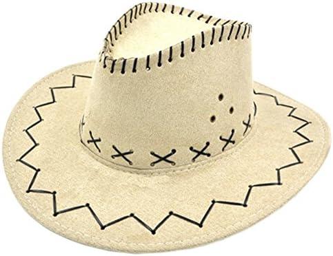 アウトドアスポーツ帽子スタイリッシュなウエストカウボーイハット釣り/狩猟/旅行帽子ベージュ