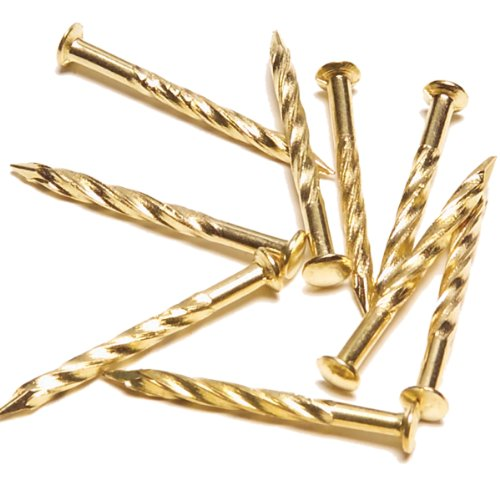 M-D Building Products 95653 1-1/4-Inch Screw Nails for Carpet Metal, Brass ()