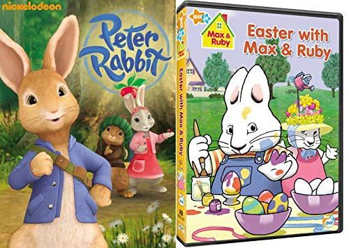 Spring Is In The Air And The Bunnies Are Out! 2-Movie Bundle - Peter Rabbit + Easter With Max & Ruby Nick Jr./ Nickelodeon Bundle 2 Pack