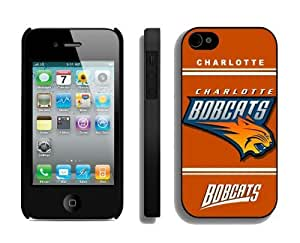 Best Iphone 4 Case NBA Charlotte Bobcats Special Cheap Athletic Element New Designer Iphone 4s Cover