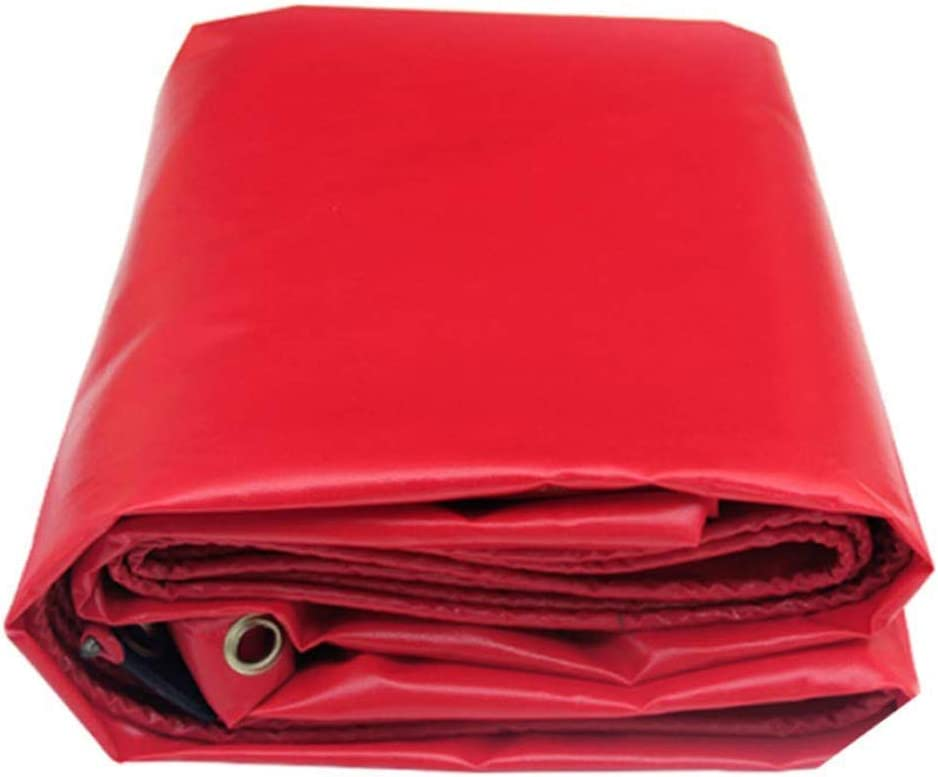 ターポリンの厚いPVCタールス赤いターポリンアウトドア旅行キャンプに最適プールのピクニックキャンプハイキング釣りペットの貨物カバー ( サイズ さいず : 8*6m )  8*6m