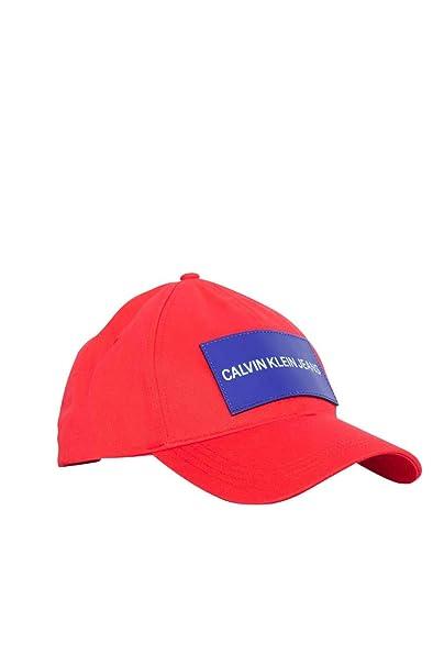 Calvin Klein - Gorra de béisbol - para Hombre Rojo Rojo Talla única: Amazon.es: Ropa y accesorios