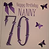 Product review for Happy Birthday Card - Nanny 70th Birthday - Handmade Card