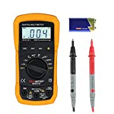 GBTIGER Digital Multimeter, 2000 Counts Auto-Ranging DMM Digital Multimeter Voltage Multi Meter with LCD Backlight Volt Amp Ohm Diode and Continuity Test