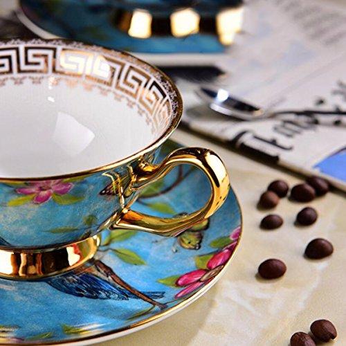 tazas de café Corte De Lujo Estilo Ingles Tarde Taza, Platillo Taza, Negro Taza De Té, Taza De Café De China De Hueso De Estilo Europeo, Creative Vintage ...