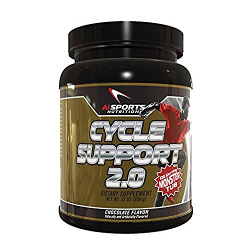 Cycle Support 2.0 by AI Sports Nutrition | Chocolate Flavor 120 Serving Monster Tub, Liver & Organ Support, Help Maintain A Healthy Hormone Balance *Product does NOT contain Idebenone* For Sale