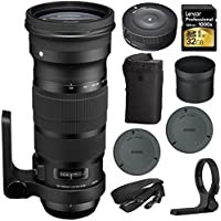 NEW SIGMA 120-300mm F2.8 DG OS HSM Telephoto Zoom Lens for Nikon (137-306) with Sigma USB Dock for Nikon Lens & SanDisk 32GB Extreme SD Memort UHS-I Memory Card