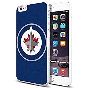 NHL HOCKEY Winnipeg Jets Logo, , Cool iPhone 6 Plus (6+ , 5.5 Inch) Smartphone Case Cover Collector iphone TPU Rubber Case White [By PhoneAholic]