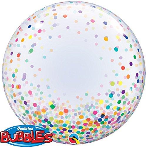 Pioneer Balloon Company Qualatex 57791 Colourful Confetti Dots 24 Inch Deco ()