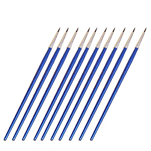 Joylive 10Pcs Miniature Fine Paintbrushes Detail Painting Brushes for Watercolor Acrylic #000