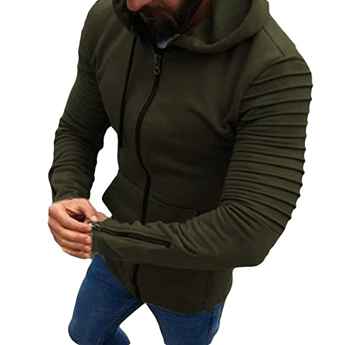 8b83ed988 Amazon.com: Aurorao Men Sport Hoodie High Fashion Street Style Fitted  Outwear Cool Man Pullover Coat: Clothing