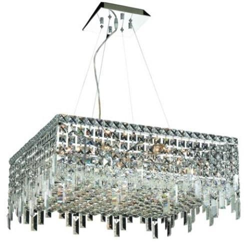 Amazon.com: Chantal Cromo Contemporáneo 12-Light Colgante ...