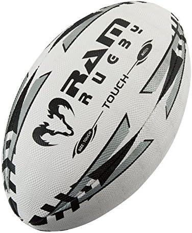 Pelota de rugby Touch Tag plateada, cosida a mano, 4 capas de ...