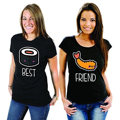 Me Coppia You Magliette Best Sushi 2 Friend And Shirt Nere T Di UqYrU