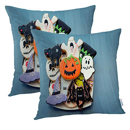 Batmerry Halloween Pillow Covers 18x18 inch Set of