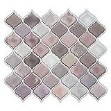 Multi color Pink Arabesque Peel and stick Tile Backsplash...