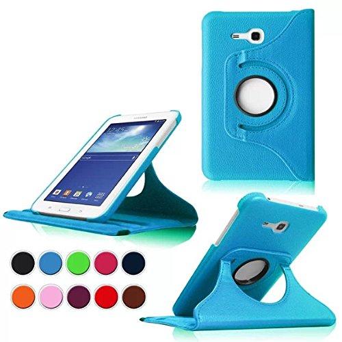 15 opinioni per Samsung Tab 3 7.0 Lite Custodia Pelle,PU Caso Pelle Girevole 360°Rotante Smart