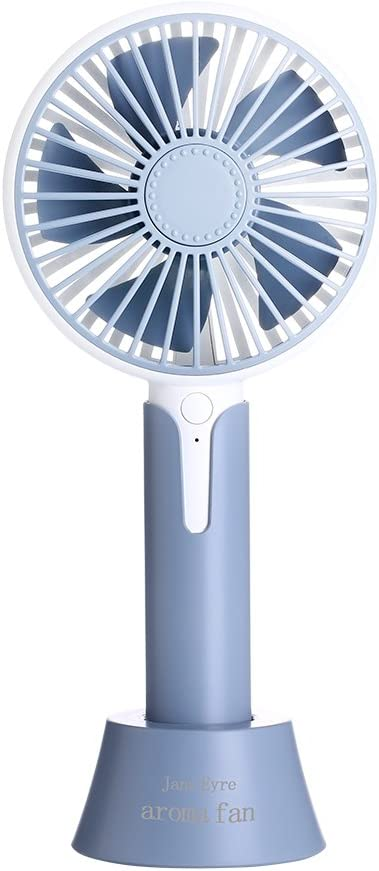 Jajx-comac USB Personal Desk Fan Handheld Mini Personal Portable Cooling Fan with USB Rechargeable Electric for Office Room Outdoor Household Traveling 2 Speed for Home Office Table