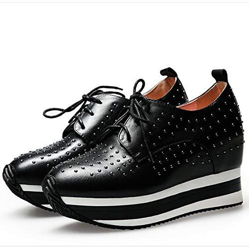 Zapatos Fucsia Mujer ZHZNVX Negro Fuchsia Comfort Sneakers Verano del Leather Nappa de pie Creepers Primavera Cerrado Dedo Plata dqZEZ1pw
